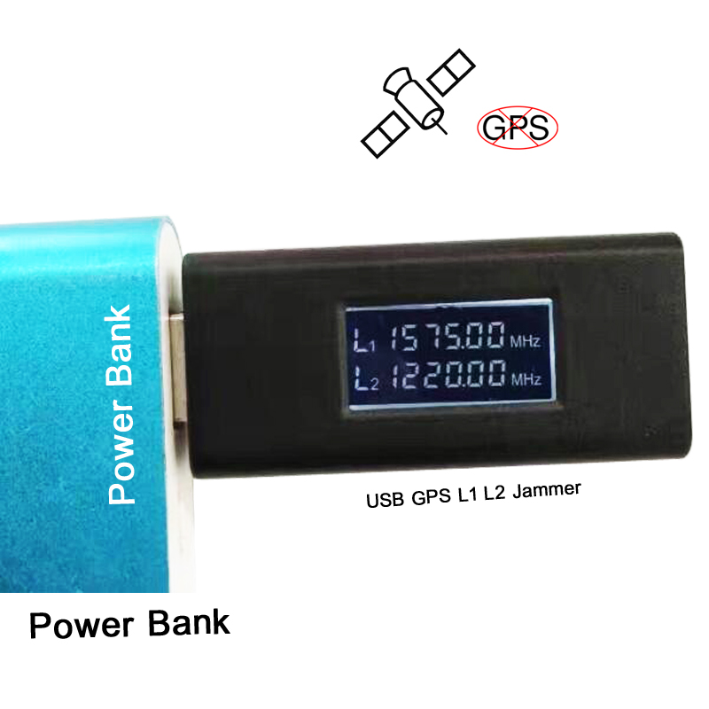 2CH USB Hidden Anti Tracking GPS L1 L2 Jammer