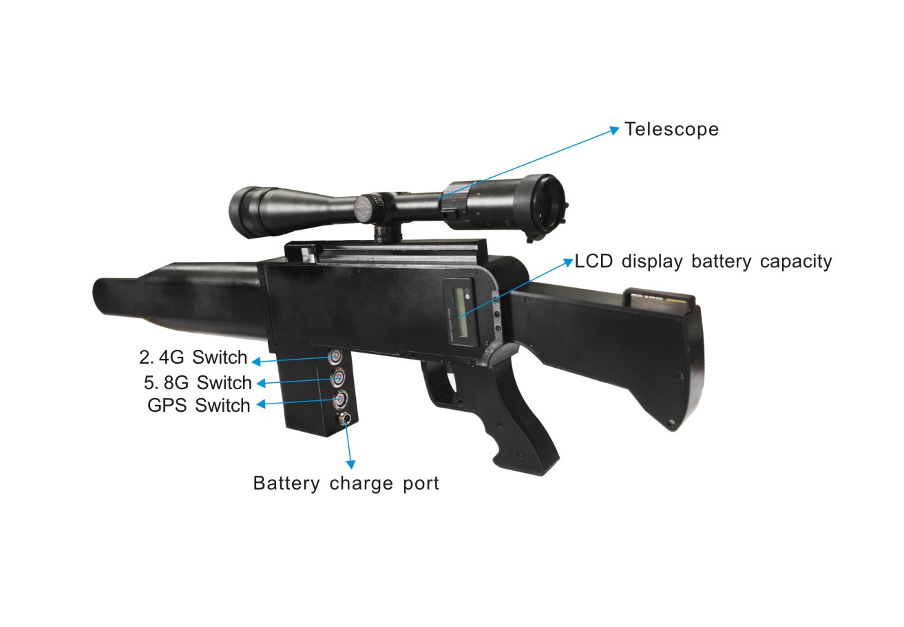 Gun shape Telescope UAV Drone interception system