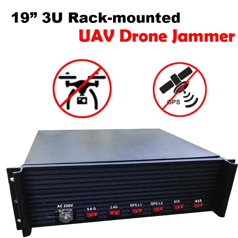 270W 19inch 3U Rack-mounted UAV Drones Jammer system